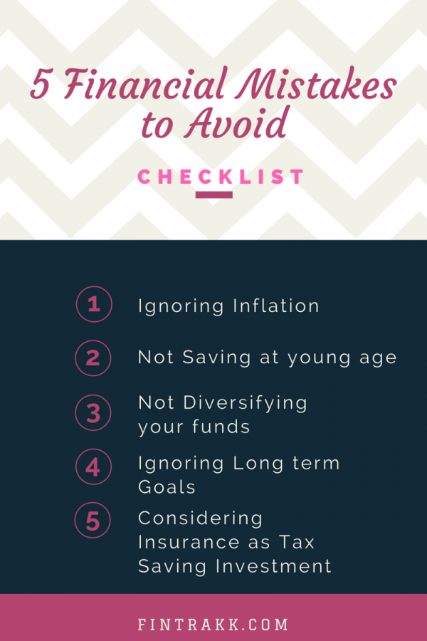 5 Financial Mistakes To Avoid !