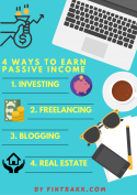 Passive Income Infographic,how to earn passive income,ways of passive income,earn additional income