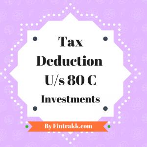 Section 80C,tax deduction 80C