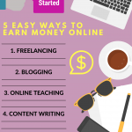 how to make money online,work from home,money making ideas,money infographic