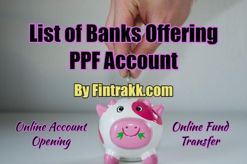 PPF banks list, PPF banks