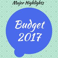 Budget 2017 : Highlights of Union Budget 2017-18