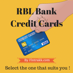 RBL Credit card,RBL Credit cards