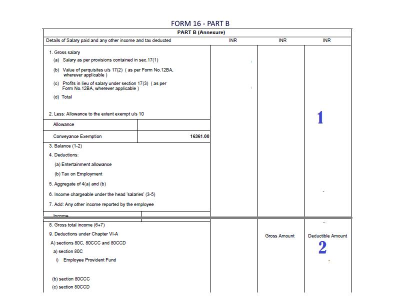 Form 16 Part B,Form16