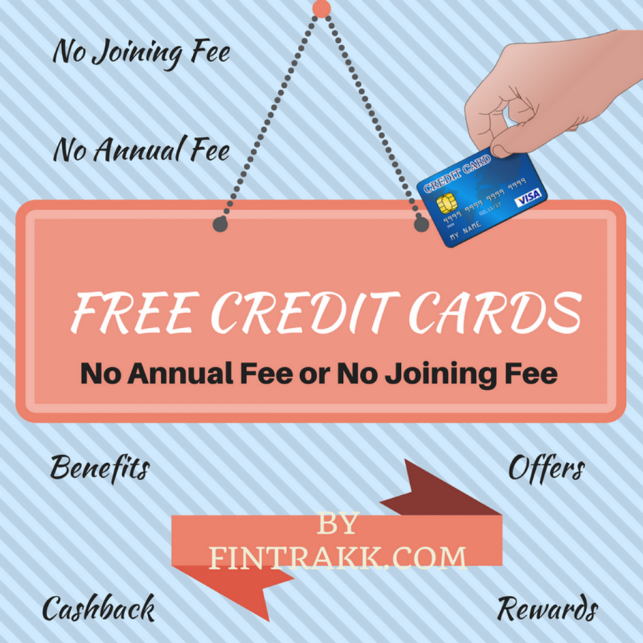 Free Credit Cards India 2021: No Annual Fee & No Joining fee!