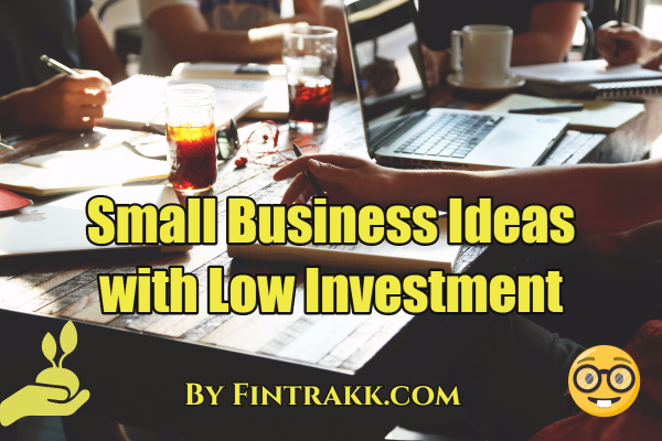 small business ideas with low investment,small business ideas