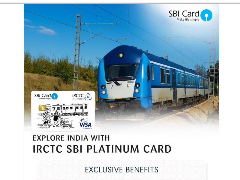 SBI IRCTC Card, IRCTC SBI Card, IRCTC Card, SBI IRCTC Platinum credit Card