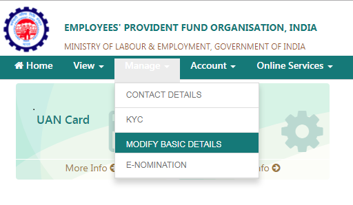 epf name correction online, epf name correction, update epf details, uan name correction