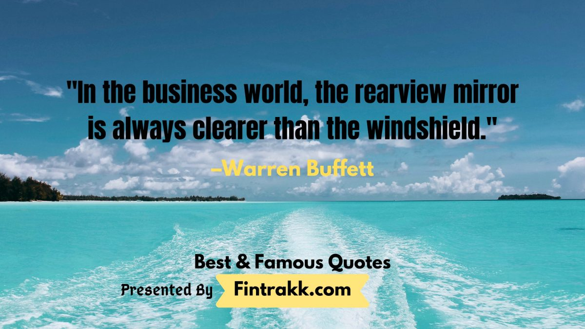 Famous Warren Buffett Quotes on Business