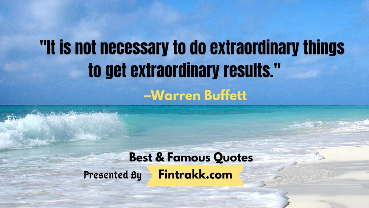 Best Warren Buffett Quotes
