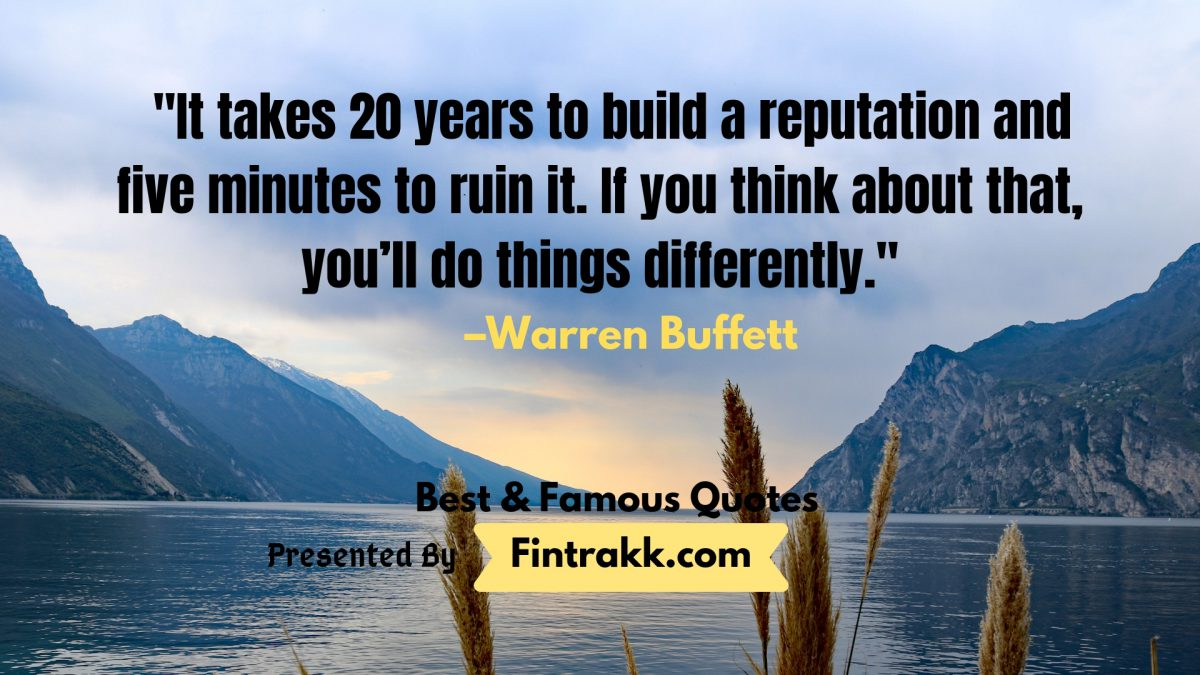 Warren Buffett Quotes, famous Warren Buffett Quotes