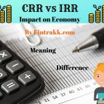 CRR vs IRR, cash reserve ratio, statutory liquidity ratio