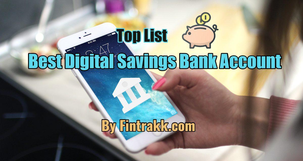 Best Digital Savings Bank Account in India: Top List