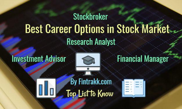 Best Career Options in Stock Market India: Top List 2020